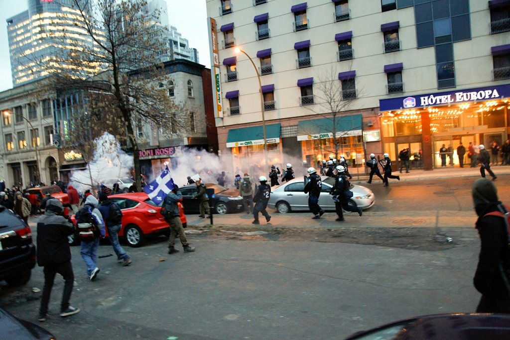 Montreal anti-police brutality march