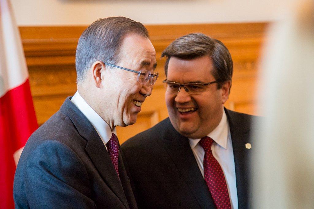 Ban Ki-moon visits Montreal