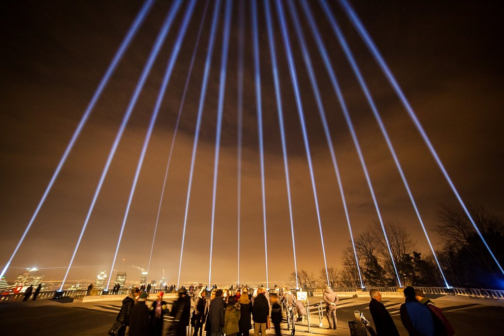 14 Beams of light commemorate shooting victims